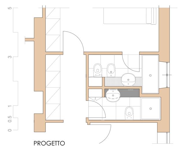 Progettare un bagno e ricavarne due scritto di notte for Bagno nei piani del garage