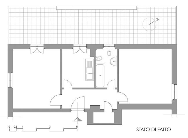 Ristrutturazione di un appartamento di 50 mq scritto di for Piccoli progetti di casa gratuiti