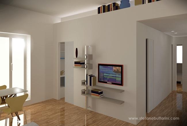 Ristrutturazione di un appartamento di 50 mq scritto di for Casa con due soggiorni
