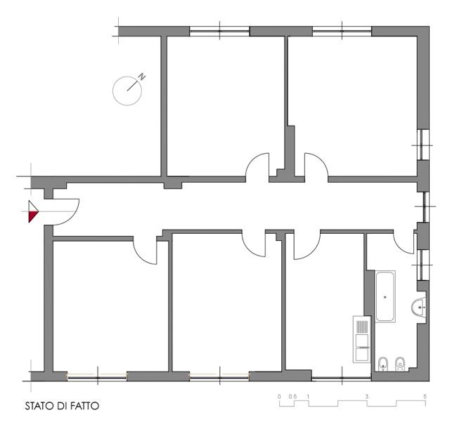 Uno with progetto casa 120 mq for Come progettare una pianta del piano interrato