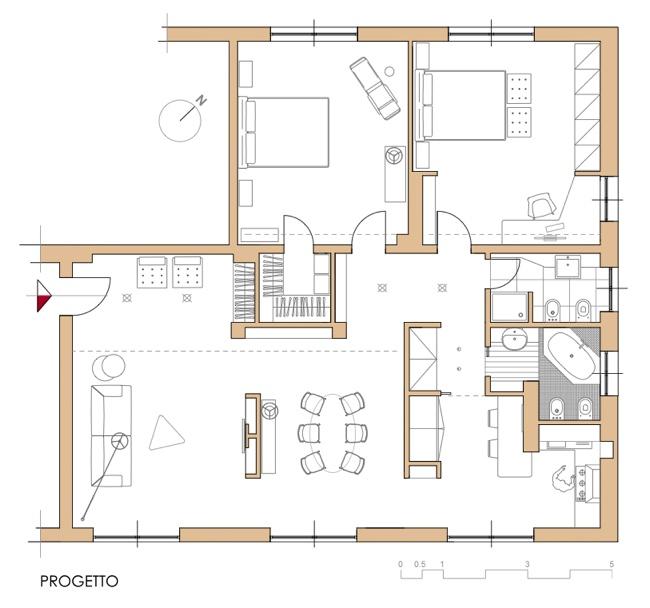 Ristrutturazione scritto di notte - Progetto casa 80 mq ...