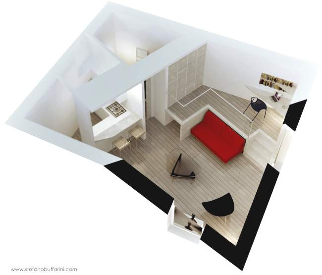 Ristrutturazione di un appartamento di 35 mq scritto di - Idee per ristrutturare un appartamento ...