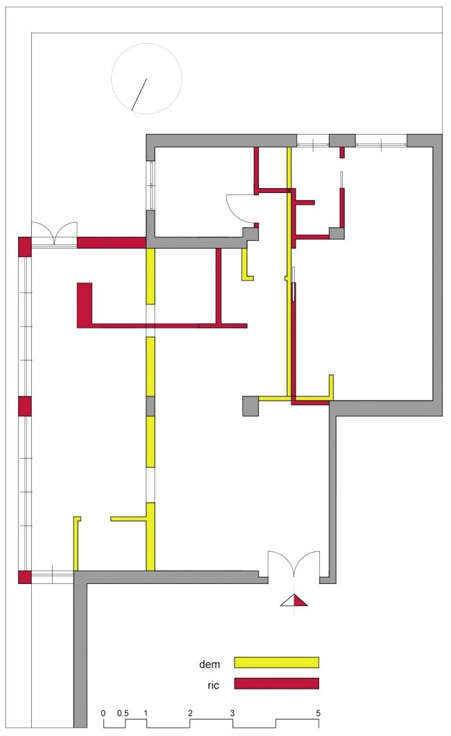 Piano casa ampliamento di un appartamento di 55 mq for Semplice disegno del piano casa
