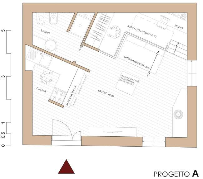Ristrutturazione di un appartamento di 35 mq